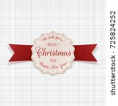 circle merry christmas greeting ... | Shutterstock .eps vector #725824252