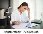 asian businesswoman and women... | Shutterstock . vector #725826385