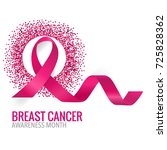 breast cancer awareness month... | Shutterstock .eps vector #725828362
