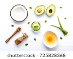 natural herbal skin care... | Shutterstock . vector #725828368