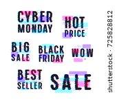 set of sale discount badges ... | Shutterstock .eps vector #725828812