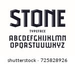 decorative sanserif font with... | Shutterstock .eps vector #725828926