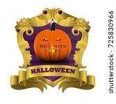 halloween pumpkin glowing in... | Shutterstock .eps vector #725830966