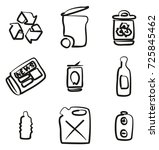 recycling icons freehand | Shutterstock .eps vector #725845462
