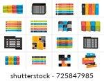 big set of tables  schedules ...   Shutterstock .eps vector #725847985