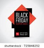 black friday sale banner in... | Shutterstock .eps vector #725848252