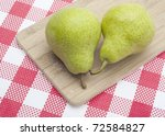 Fresh Green Pear Summer Fruit Image. - stock photo