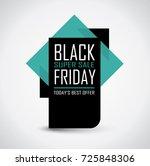 black friday sale banner in... | Shutterstock .eps vector #725848306
