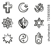 religion icons freehand | Shutterstock .eps vector #725850058