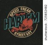 sakateboard. vintage skateboard ... | Shutterstock .eps vector #725852482