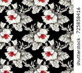 beautiful blooming realistic... | Shutterstock . vector #725858416