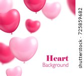 hearts balloon white background.... | Shutterstock .eps vector #725859682