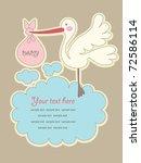 frame design for baby gteeting... | Shutterstock .eps vector #72586114
