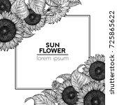 Sunflower Retro Design Templat...