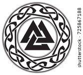 walknut  sign of god odin ... | Shutterstock .eps vector #725867188