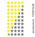 star rate. vector icon on white ...