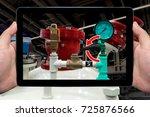 industrial 4.0 concept.... | Shutterstock . vector #725876566
