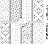 set of vector seamless patterns.... | Shutterstock .eps vector #725882872