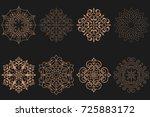set of circular arabic patterns.... | Shutterstock .eps vector #725883172