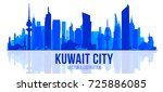 kuwait skyline with panorama in ... | Shutterstock .eps vector #725886085