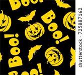 halloween theme seamless pattern | Shutterstock .eps vector #725887162