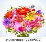 bouquet of tender flowers with...