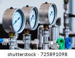 mechanical pressure gauges.... | Shutterstock . vector #725891098