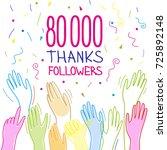 80 000 subscribers  follower ...   Shutterstock .eps vector #725892148