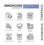 web page development   modern... | Shutterstock .eps vector #725895622