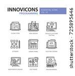 programming   modern essential... | Shutterstock .eps vector #725895646