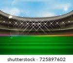 soccer stadium vector banner.... | Shutterstock .eps vector #725897602