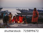 march 25  2015 ganges river ...   Shutterstock . vector #725899672