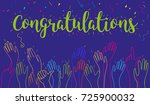 hands clapping raised up... | Shutterstock .eps vector #725900032