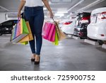 after day shopping. close up of ... | Shutterstock . vector #725900752