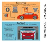 auto service and car washing... | Shutterstock .eps vector #725900926
