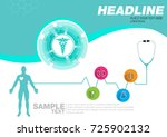 abstract health medical... | Shutterstock .eps vector #725902132