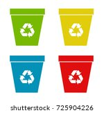 set of recycling bins vector... | Shutterstock .eps vector #725904226