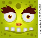 cartoon expression monster | Shutterstock .eps vector #725904232