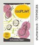 eggplant brochure concept... | Shutterstock .eps vector #725908186