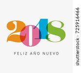 happy new year 2018 card ... | Shutterstock .eps vector #725916466