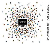 group big people crowd on white ... | Shutterstock .eps vector #725916532
