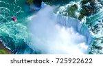 beautiful niagara falls aerial... | Shutterstock . vector #725922622