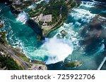 beautiful niagara falls aerial... | Shutterstock . vector #725922706