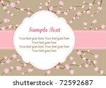 floral branch frame | Shutterstock .eps vector #72592687