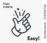 easy concept. finger snapping ... | Shutterstock .eps vector #725930746