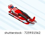 luge sled race athlete winter...   Shutterstock .eps vector #725931562