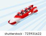 bobsleigh sled race athlete... | Shutterstock .eps vector #725931622