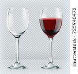 transparency wine glass. empty... | Shutterstock .eps vector #725940472