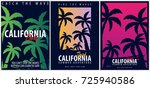 set of surfing graphics with... | Shutterstock .eps vector #725940586