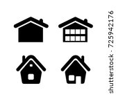 home icon in trendy flat style... | Shutterstock .eps vector #725942176